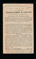 AUGUST LA MONT  MOORTZELE 1850   GENT 1921 - Décès