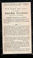 ROMANIA HILLEGEER  BRUGGE 1856  GENT 1923 - Décès