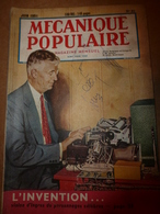 1951 MÉCANIQUE POPULAIRE: Construire Sa Maison En Contre-plaqué (2e Partie);Pour Avoir Une Belle Pelouse;Rejointoyer;etc - Wissenschaft & Technik