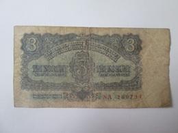 Czechoslovakia 3 Korun 1953 Banknote - Tchécoslovaquie