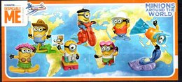 Cartina Istruzioni Kinder ' Minions Around The World' (Fronte E Retro) - Notices