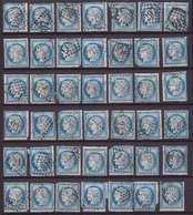 N°60B, Très Rare Lot De 52 Positions Différentes Du Panneau D5 - 1871-1875 Cérès