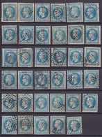 N°29A Type I Ensemble De 34 Très Belles Variétés, Taches Blanches, Filets Cassés, Timbre Plus Grand, Etc, TB. - 1863-1870 Napoléon III. Laure