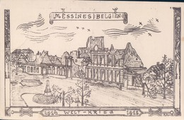 Mesen Messines Belgien 1914 Welt Krieg 1915 Feldpost Feldpostkarte - Mesen