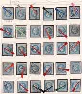 N°29 30 Exemplaires Avec Très Belle Variétés Sur Les Grecques Et Autres, Très Intéressant, 1er Choix. - 1863-1870 Napoleon III With Laurels