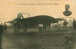 140119 - 28 TOURY Aéroplane Monoplan De Louis Blériot - Les Essais - Aviation Avion Aviateur Chien - Altri Comuni