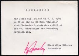 C1674 - Orig. Nikonow Oberstleutnant Kommandant Autogramm Autogrammkarte - DDR - HO Gaststätte Melodie - Autographes