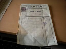 Novi Sad Slavija Racun Tax Stamps 2 Dinara Overprint - Factures & Documents Commerciaux