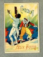 CHROMO Felix Potin Cirque Circus Black White Clown Blanc Noir Jonglage Tablette De Chocolat Humour Victorian Trade Card - Félix Potin