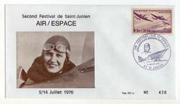 Anniversaire Aérodrome Maryse Bastié Aviatrice Aviation Saint-Junien (Haute-Vienne) Juillet 1976 - Célébrités