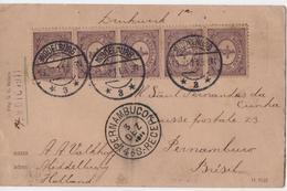 C3025-Netherlands-Multifranked PPC From Middelburg To Pernambuco, Brazil-1911 - Period 1891-1948 (Wilhelmina)