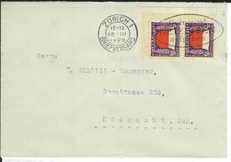 SBK 2xJ45, Mi 2x229 Zürich 1 - Briefe U. Dokumente