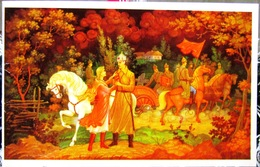 Colorful Greeting Card In Honor Of The Soviet Red Army Civil War In Russia, Cavalry, Beautiful Girl. USSR Postcard - Patriotic