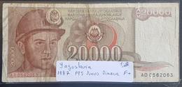 EBN1 Banknote - Yugoslavia 20000 Dinars, Dinara, 1987 P-95 - Yugoslavia