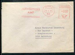 """Bundesrepublik Deutschland / 1968 / Brief Des Generalkonsulats Sydney, Frei-Stempel Bonn """"Auswaertiges Amt"""" (5/267) - Briefe U. Dokumente"""