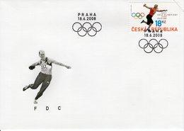 CZECH REPUBLIC  - 2008 Olympic Games - Beijing, China  FDC5929 - FDC