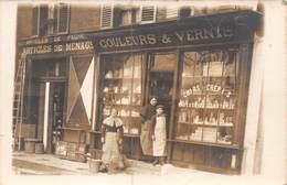 Carte Photo- Marchand De Couleurs Et Vernis - Quincaillerie,articles De Pêche,articles De Ménage. A Identifier - Non Classés