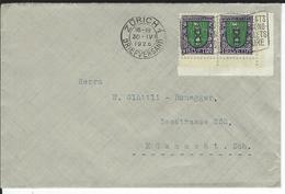 SBK 2xJ33, Mi 2x214 Zürich 1 - Briefe U. Dokumente