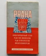 Carte De Prague Au 1/15 000, 1958 - Cartes Routières