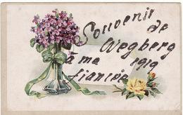 SOUVENIR DE WEGBERG 1919 A MA FIANCEE (carte Avec Paillettes) - Wegberg