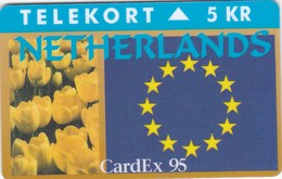Denmark, TP 110, Cardex 95, Mint, Only 1000 Issued, Tulips, Flowers, 2 Scans. - Denmark