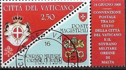 2008 Vatikan Mi. 1622 FD-used   Unterzeichnung Einer Postkonvention Zwischen Dem Malteserorden Und Der Vatikanstadt - Vatican
