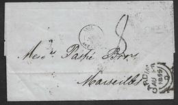 1855 - ENTIRE - CARDIFF (WALES) To MARSEILLE - PARIS TRANSIT - Grossbritannien