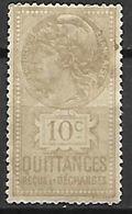 FRANCE    -    Timbre  Fiscal  De  10 C.  Quittances.  Neuf  * - Fiscaux