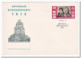 DDR 1963, FDC, 150th Anniversary Of The Wars Of Liberation - FDC: Enveloppes