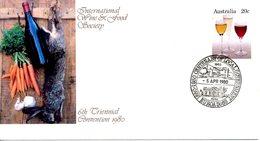 AUSTRALIE. Entier Postal Avec Oblitération De 1980. Vin/Lapin. - Vins & Alcools