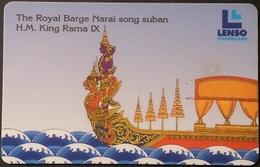 Telefonkarte Thailand - Lenso -  The Royal Barge  -  500 Baht - Thaïland