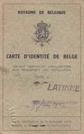 Commune De Latinne  Ancienne Carte D'identité - Old Paper