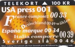 Denmark, TR 002, New International Codes, Mint Only 3.000 Issued. 2 Scans. - Denmark