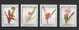 BRAZIL  BRASIL BRESIL ORQUIDEAS ORCHIDS ORCHIDEES HOMENAJE A MARGARET MEE YVER TELLIER NRS. 2078 - 2081 MNH - Orquideas