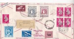 GEOPHYSIKAL YEAR. CIRCULEE 1958 EXPRESS AVEC COMPLETE SET NON DELENTE CIRCULEE ANTARTIDA ARGENTINA VIA USHUAIA...- BLEUP - International Geophysical Year