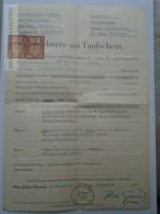 ZA155.11 Baptismal Certificate - WLACHOWITZ OLMÜTZ OLOMUC - Vlahovice - Tochter Bilka  1941 WWII Protektorat Mähren - Naissance & Baptême
