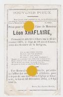 CHARNEUX ( Herve ) 1871 Léon XHAFLAIRE - Décès