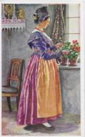 AK 0127  Trachten ( Südtirol , Bozen-Trentino ) - Paula Tiefenthaler Künstlerkarte Um 1917 - Trachten