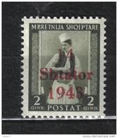 SS6055 - ALBANIA Occupazione Tedesca ,  Sassone N. 2  ***  Mnh - Occupazione 1938 – 45