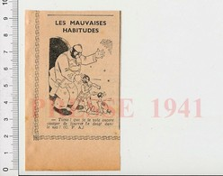 Presse 1941 Humour Enfant Doigt Dans Le Nez Ancien Masque à Gaz Guerre Claque Punition 223XO - Vieux Papiers
