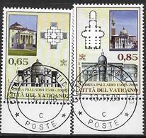 2008 Vatikan  Mi. 1523-4  FD-used  500. Geburtstag Von Andrea Palladio. - Vatican