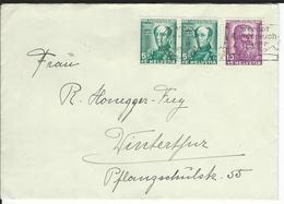 SBK 2xJ81, J82, Mi 2x314, 315 Zürich 3 - Briefe U. Dokumente