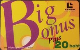 Telefonkarte Thailand - Lenso -  Big Bonus -  300 Baht - Thaïland