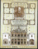2008 Vatikan  Mi. Bl 31 FD-used   500. Geburtstag Von Andrea Palladio. - Blocks & Sheetlets & Panes