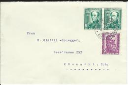 SBK 2xJ81, J82, Mi 2x314, 315 Winterthur 1 - Briefe U. Dokumente