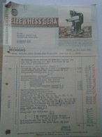 ZA155.13  Rechung ELZE & HESS  GERA -1941  Invoice - Allemagne