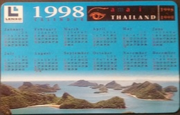 Telefonkarte Thailand - Lenso -  Kalender 1998  -  300 Baht - Thaïlande