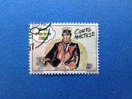 1997 SAN MARINO STORIA DEL FUMETTO FUMETTI CORTO MALTESE FRANCOBOLLO USATO STAMP USED - San Marino