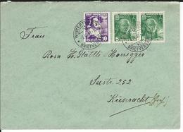 SBK 2xJ77, J78, Mi 2x306, 307 Winterthur 1 - Briefe U. Dokumente