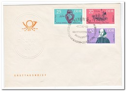 DDR 1964, FDC, Famous Artists - FDC: Enveloppes